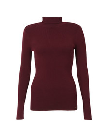 Ted Baker Womens Red Smone Compact Knit Roll Neck