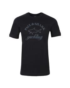 Paul & Shark Mens Blue Large Logo Crew T Shirt