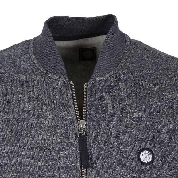 Pretty Green Mens Blue Ranford Sweat Zip main image