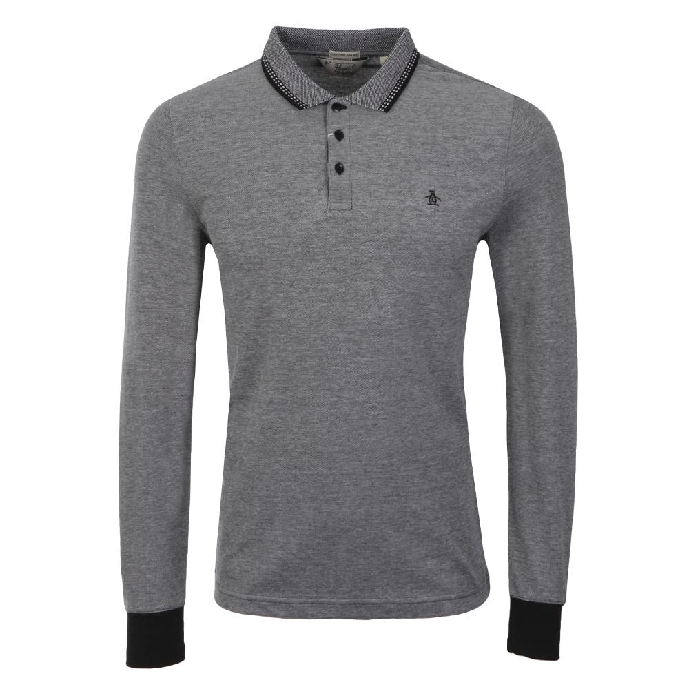 Birdseye Pique Long Sleeve Polo Shirt main image