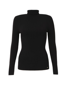 Ted Baker Womens Black Helic Fitted Roll Neck Jumper