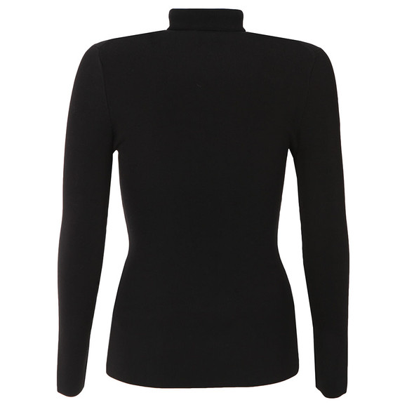 Ted Baker Womens Black Helic Fitted Roll Neck Jumper main image