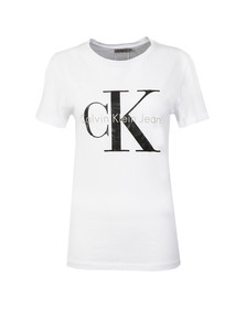Calvin Klein Womens White Shrunken T Shirt