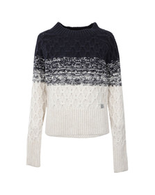 Superdry Womens Blue Ombre Honeycombe Knit