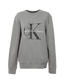 Calvin Klein Womens Grey Logo Crew Neck Sweatshirt