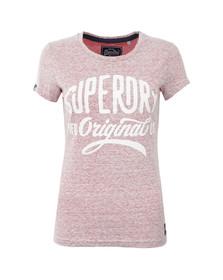 Superdry Womens Pink MFG Original Tee