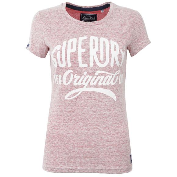 Superdry Womens Pink MFG Original Tee main image