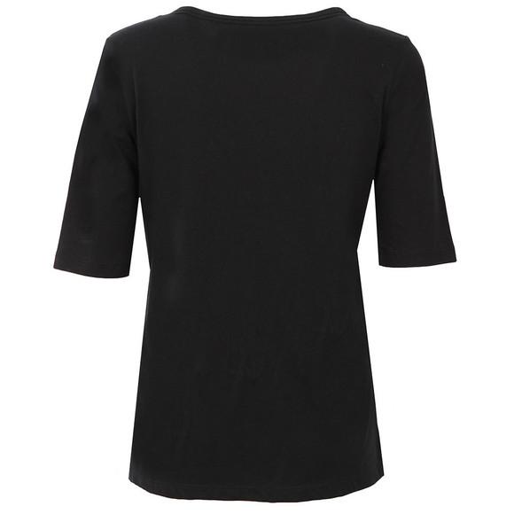 Calvin Klein Womens Black Crew Neck Straight Fit T Shirt main image