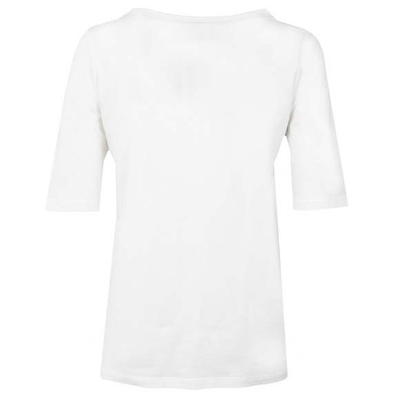 Calvin Klein Jeans Womens White Crew Neck Straight Fit T Shirt main image