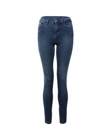 Calvin Klein Womens Blue High Rise Skinny Jean