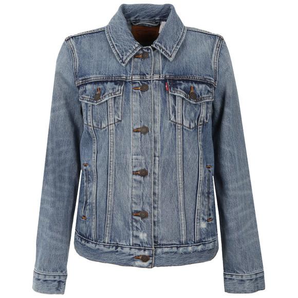 Levi's Womens Blue Boyfriend Trucker Jacket main image