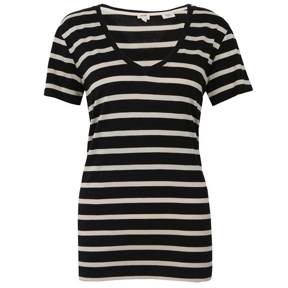 Levi's Womens Black Perfect V Neck T Shirt main image
