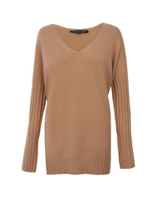 French Connection Womens Brown Viva Vhari V Neck Jumper