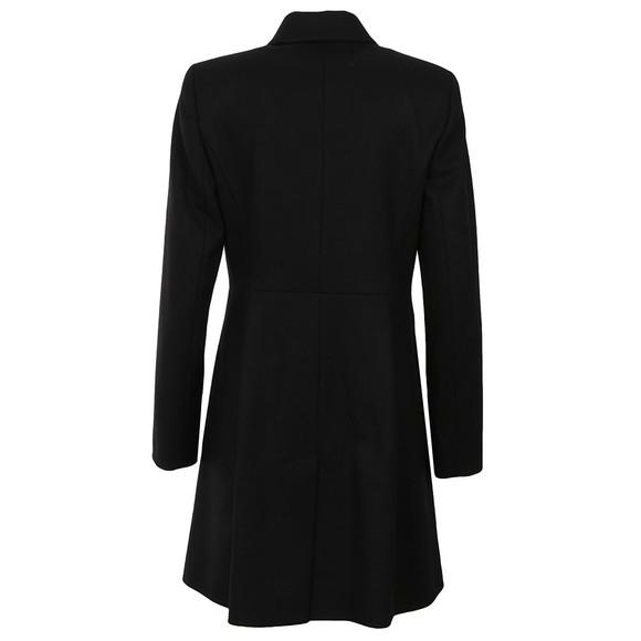 French Connection Womens Black Platform Felt Zip Coat main image