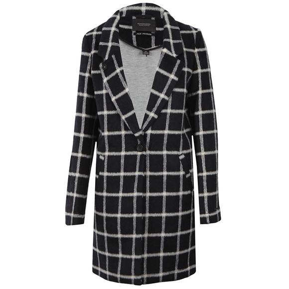 Maison Scotch Womens Black Bonded Wool Coat main image
