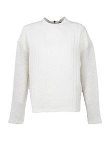 Maison Scotch Womens Off-white High Neck Sweat