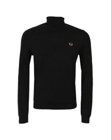 Fred Perry Mens Black Merino Roll Neck Sweater