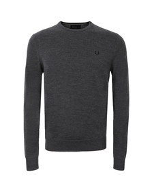 Fred Perry Mens Grey Crew Neck Jumper