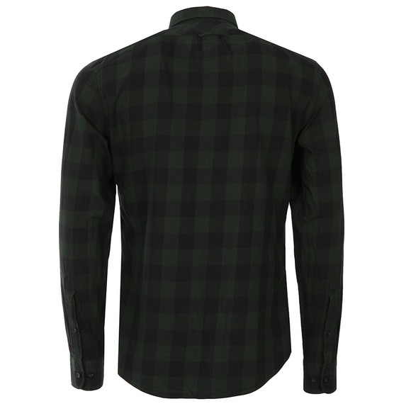 J.Lindeberg Mens Green Daniel Soft Check Shirt main image