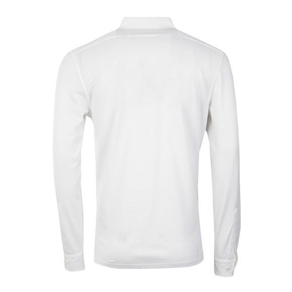 J.Lindeberg Mens White Conny Lux Long Sleeve Pique Polo Shirt main image