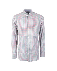 Paul & Shark Mens White Button Down Small Check Shirt