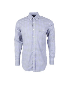 Paul & Shark Mens Blue Button Down Gingham Shirt