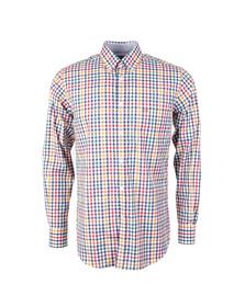 Paul & Shark Mens White Button Down Check Shirt