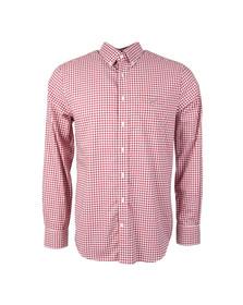 Gant Mens Red L/S Gingham Shirt