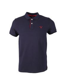 Gant Mens Blue Contrast Collar S/S Polo