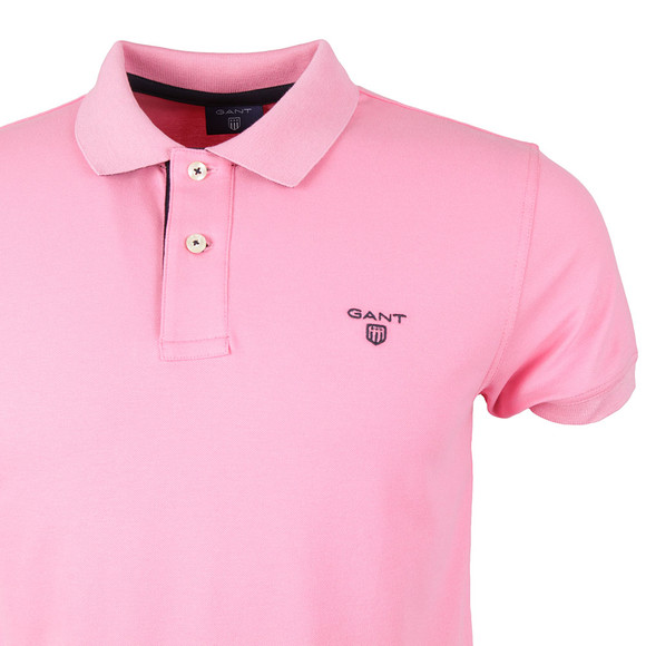 Gant Mens Pink Contrast Collar Polo main image
