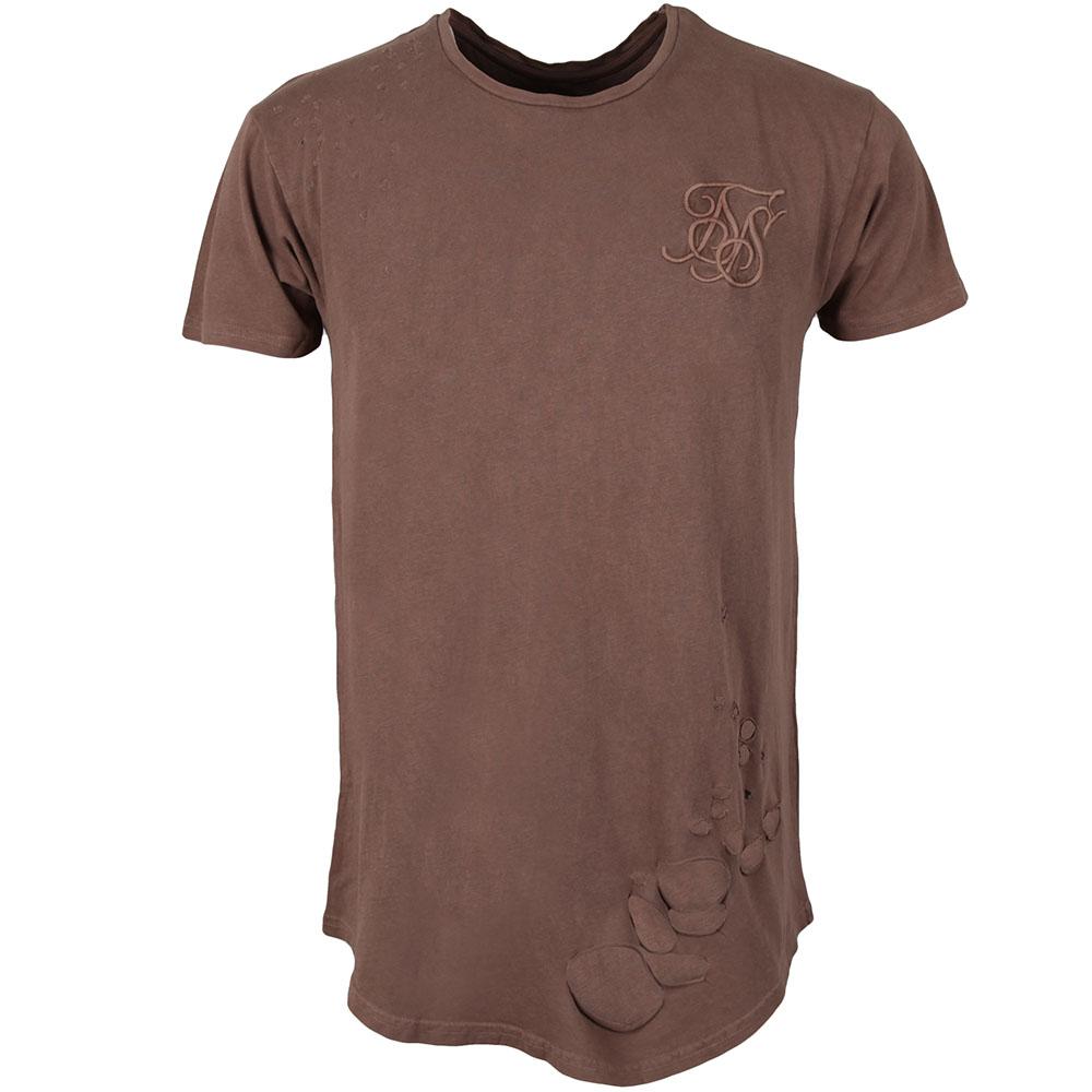 Destroyed Curved Hem T Shirt main image