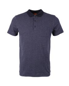 Boss Orange Mens Blue Picktown Polo Shirt