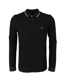 Pretty Green (Black Label) Mens Black Starmoor Long Sleeve Polo Shirt