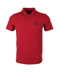 EA7 Emporio Armani Mens Red Tipped Polo Shirt