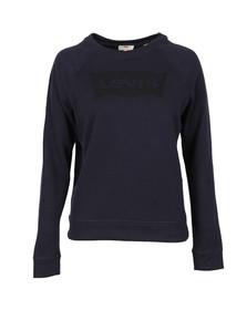 Levi's Womens Blue Classic Crew Sweatshirt