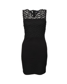 French Connection Womens Black Chelsea Beau Sleeveless Fitted Dress