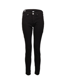 True Religion Womens Black Jennie Curvy Mid Rise Skinny Jean