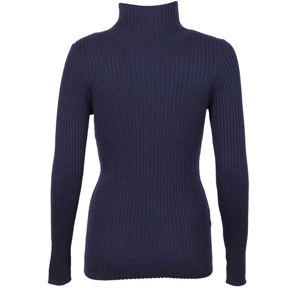 French Connection Womens Blue Bambino Rib Knit High Neck Jumper main image