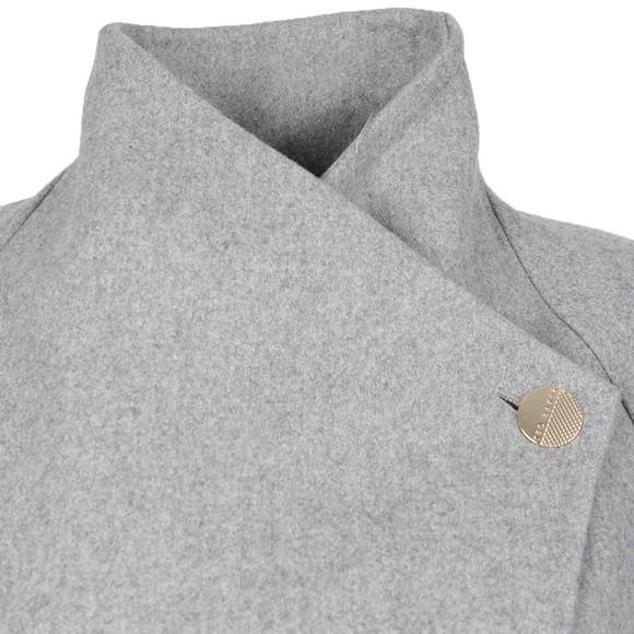 Ted Baker Womens Grey Aurore Long Wrap Collar Coat  main image