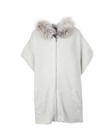 French Connection Womens Grey Autumn RSVP Hooded Poncho