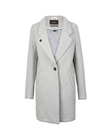 Maison Scotch Womens Grey Bonded Wool Coat