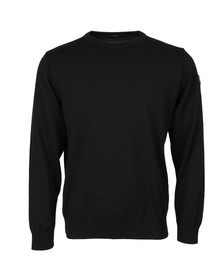 Paul & Shark Mens Black Fine Wool Crew Neck Jumper