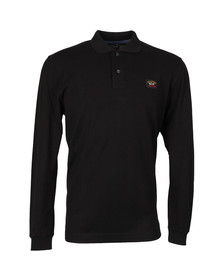 Paul & Shark Mens Black Long Sleeve Polo Shirt