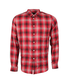 Paul Smith Mens Red Casual Fit Check Shirt