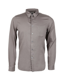 Paul Smith Mens Grey Tailored Fit Oxford Shirt