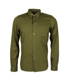 Paul Smith Mens Green Tailored Fit Oxford Shirt