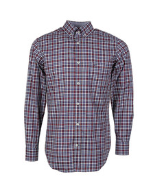 Paul & Shark Mens Blue Button Down Small Check Shirt