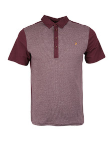 Farah Mens Red Hammond SS Polo