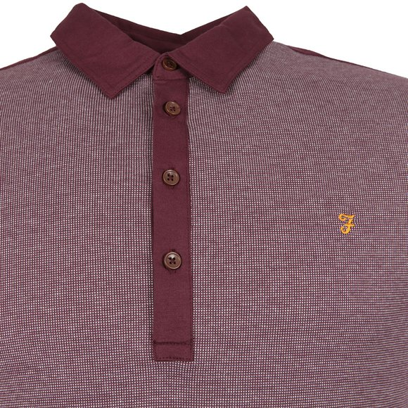 Farah Mens Red Hammond SS Polo main image