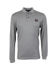 Paul & Shark Mens Grey Long Sleeve Polo Shirt